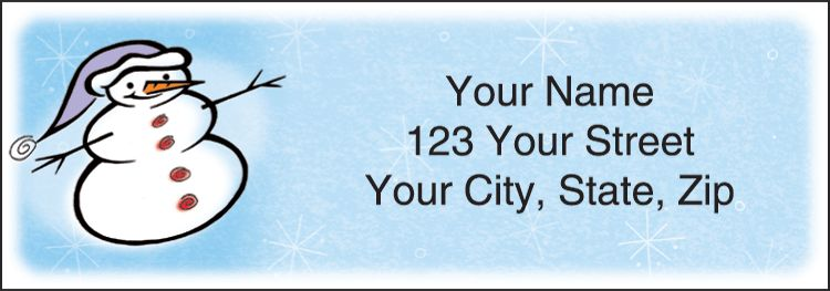 Snow Days Address Labels - click to view larger image