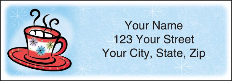 Snow Days Address Labels - click to preview