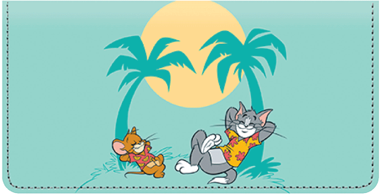 Tom & Jerry Checkbook Cover - click to view larger image