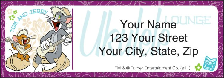 Tom & Jerry New Address Labels - click to preview
