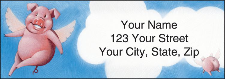 When Pigs Fly Address Labels - click to view larger image