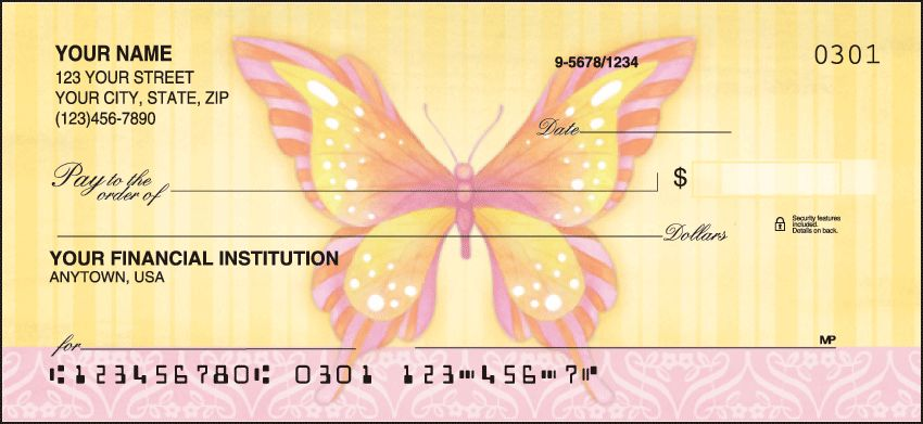 Butterflies Checks - click to view larger image