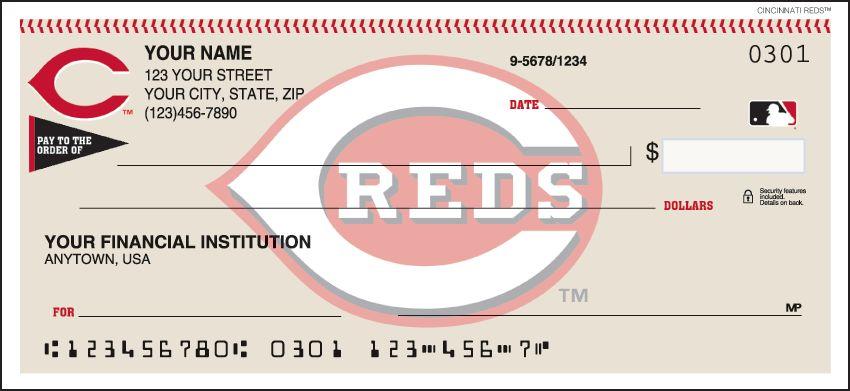 MLB - Cincinnati Reds Checks - click to view larger image