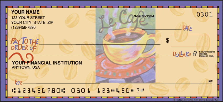 Cup o' Java Checks - click to view larger image