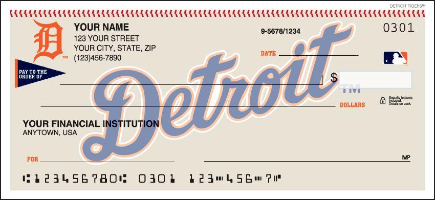 MLB - Detroit Tigers Checks - click to view larger image