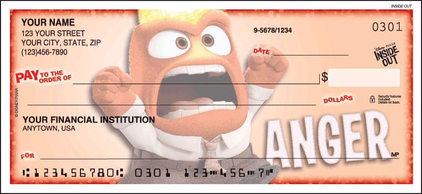 Disney/Pixar Inside Out Checks - click to view larger image