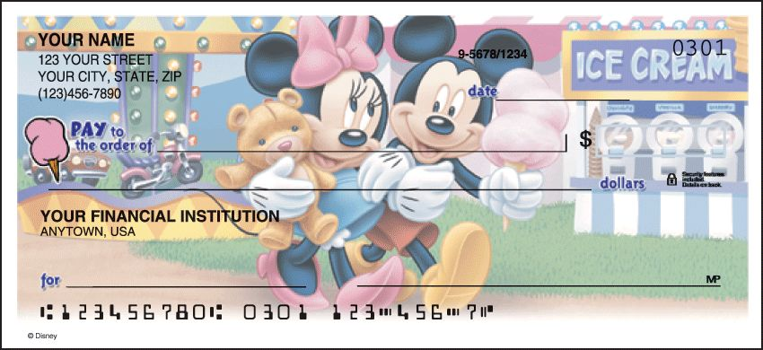 Mickey Mouse Side Tear Checks - click to view larger image