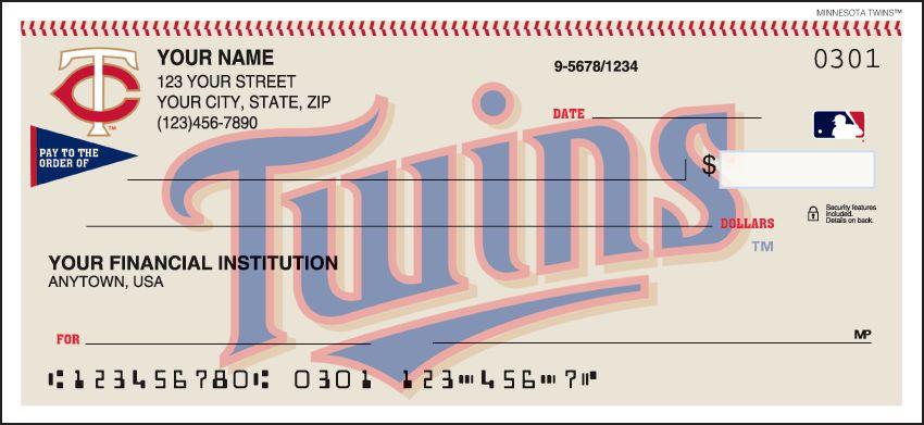 MLB - Minnesota Twins Checks - click to view larger image