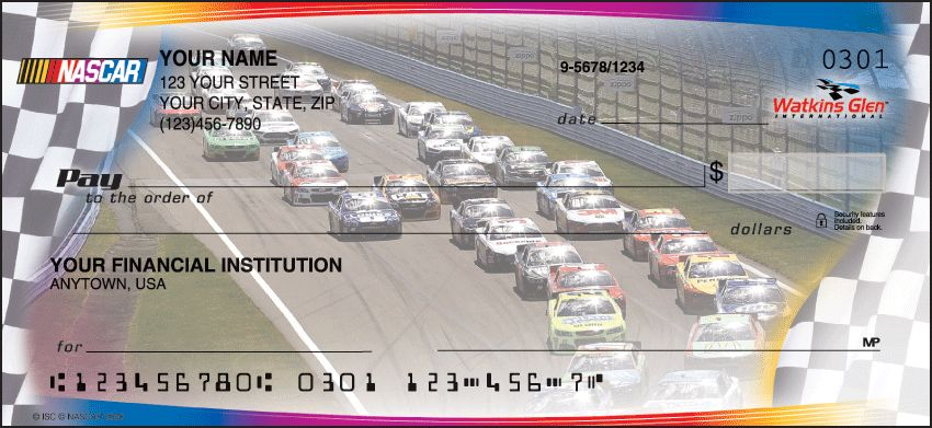NASCAR Collections Checks - click to view larger image