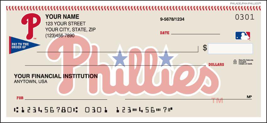 MLB - Philadelphia Phillies Checks - click to view larger image