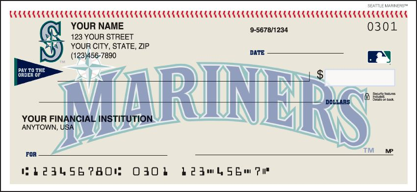 MLB - Seattle Mariners Checks - click to view larger image