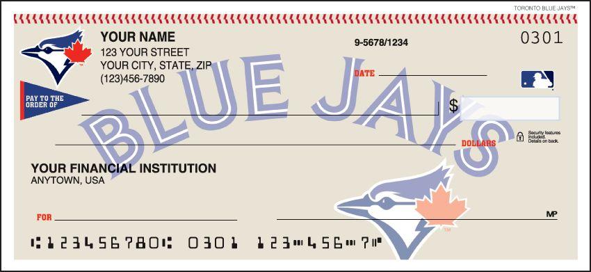 MLB - Toronto Blue Jays Checks - click to view larger image