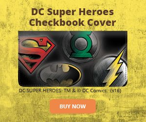 DC Super Heroes Checkbook Cover