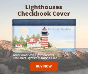 Lighthouses Checkbook Cover