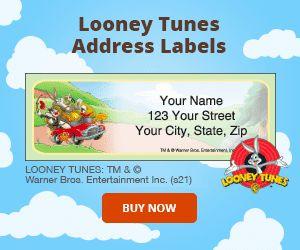 Looney Tunes Address Labels
