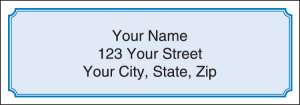 Blue Classic Address Labels – click to view product detail page