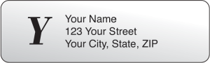 Clear Monogram Address Labels – click to view product detail page