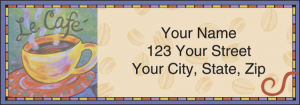 Cup o' Java Address Labels – click to view product detail page