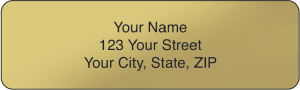 Gold Rolled Address Labels – click to view product detail page