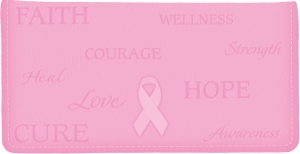 Hope for the Cure Breast Cancer Awareness Side Tear Checkbook Cover – click to view product detail page