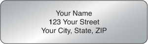 Silver Rolled Address Labels - 500 qty – click to view product detail page
