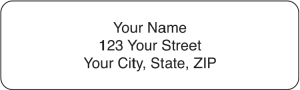 White Rolled Address Labels - 500 qty – click to view product detail page