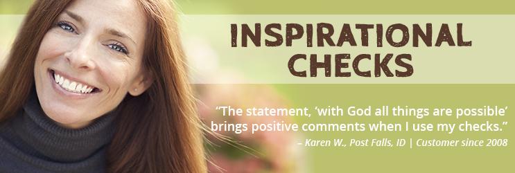 Inspirational Personal Checks