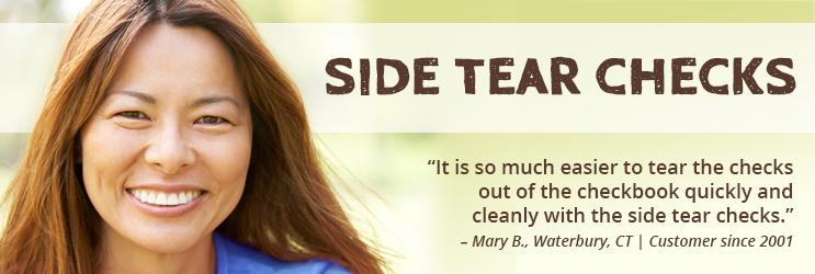 Side Tear Personal Checks