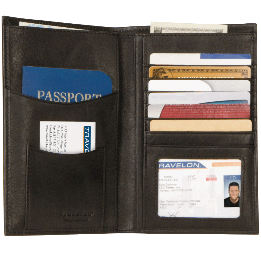 Executive Organizer, Black RFID Wallet