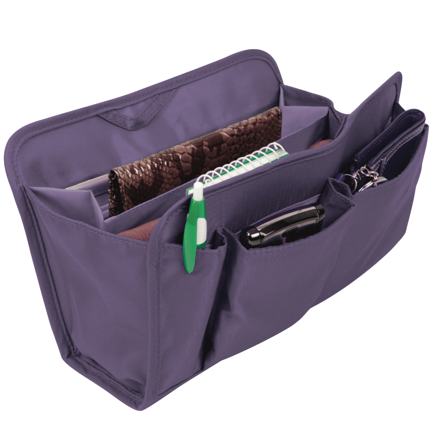 Purse Organizer Purple, Large