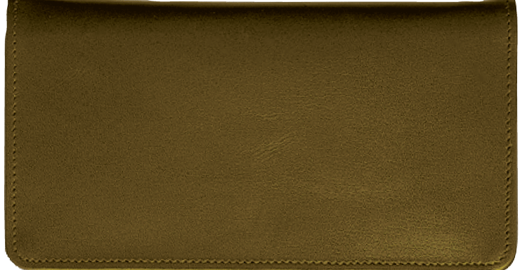 Chocolate Brown Checkbook Cover