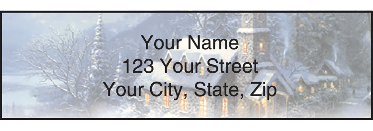 Image of Churches Thomas Kinkade Address Labels