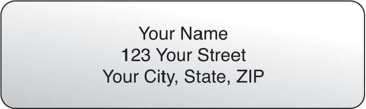 Clear Rolled Address Labels - click to view larger image
