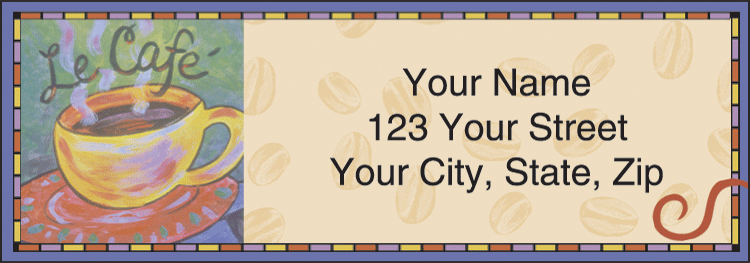 Cup o' Java Address Labels - click to view larger image