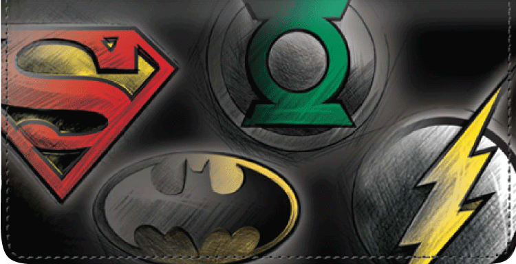DC Super Heroes Checkbook Cover - click to view larger image