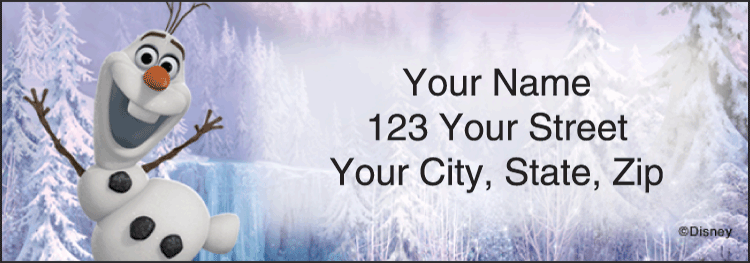 Disney Frozen Address Labels - Set of 210