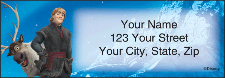 Disney's Frozen Address Labels - click to preview