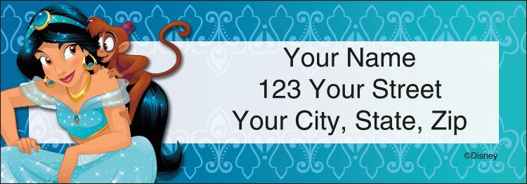 Disney Princess Address Labels - click to preview