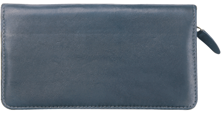Elite Black Zippered Checkbook Cover - click to view larger image