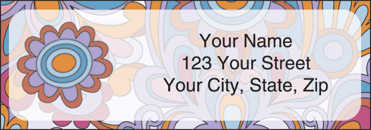 Flower Power Address Labels - click to view larger image