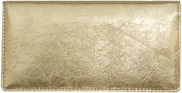 Gold Metallic Checkbook Cover