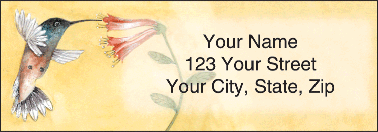 Hummingbirds Address Labels - click to view larger image