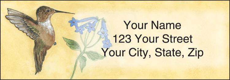 Hummingbirds Address Labels - click to preview