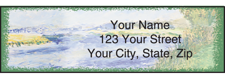 Impressionists Address Labels - click to preview