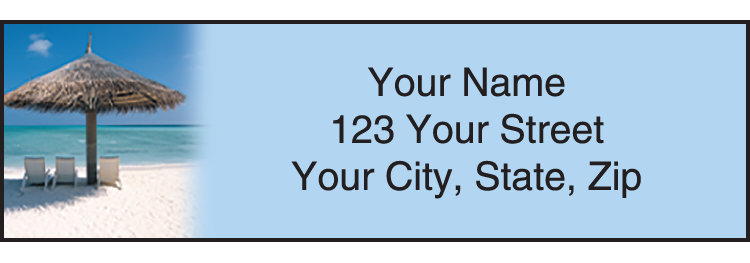 Island Escapes Address Labels - click to view larger image