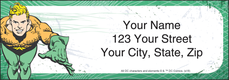 The Justice League Sheeted Address Labels - Set of 210