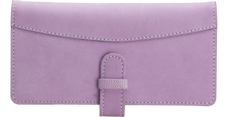 Lavender Checkbook Cover - click to view larger image