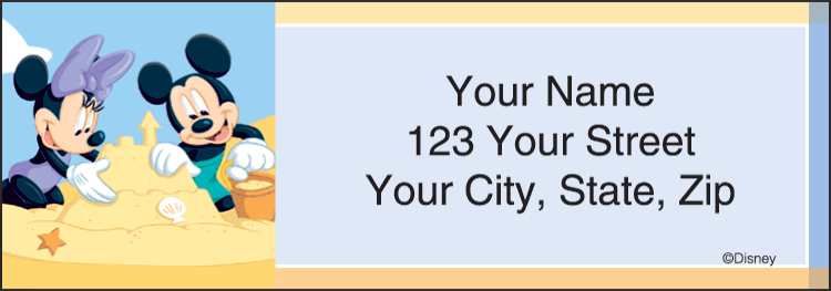 Mickey Mouse Address Labels - click to preview