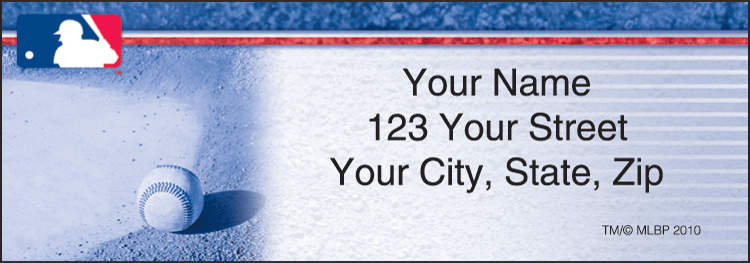Major League Baseball Address Labels - Set of 210
