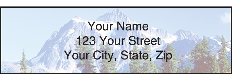 Peaceful Panoramas Address Labels - click to view larger image